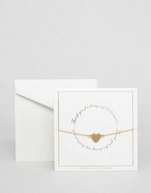Свадьба - Bridesmaid Bracelet Gift Card