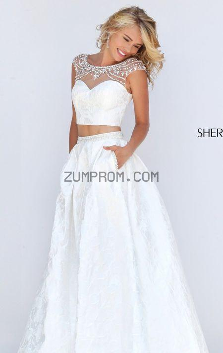 زفاف - Style 50197 Two-Piece Textured Gown by Sherri Hill