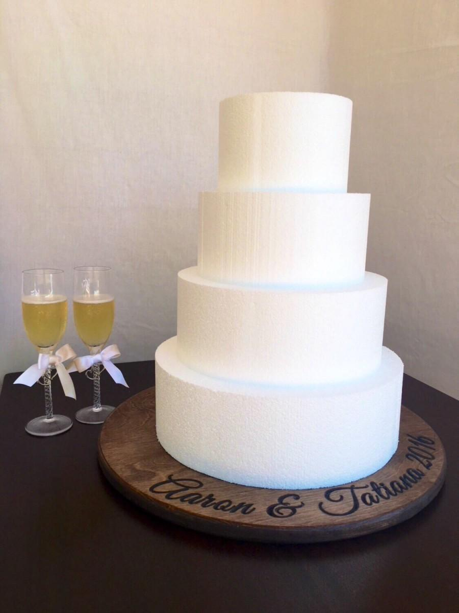 زفاف - Wedding cake stand - Wedding decor - Cake stand - Rustic Wedding - Bridal gift - Gift for them - Personalized Gift - Wedding Platter