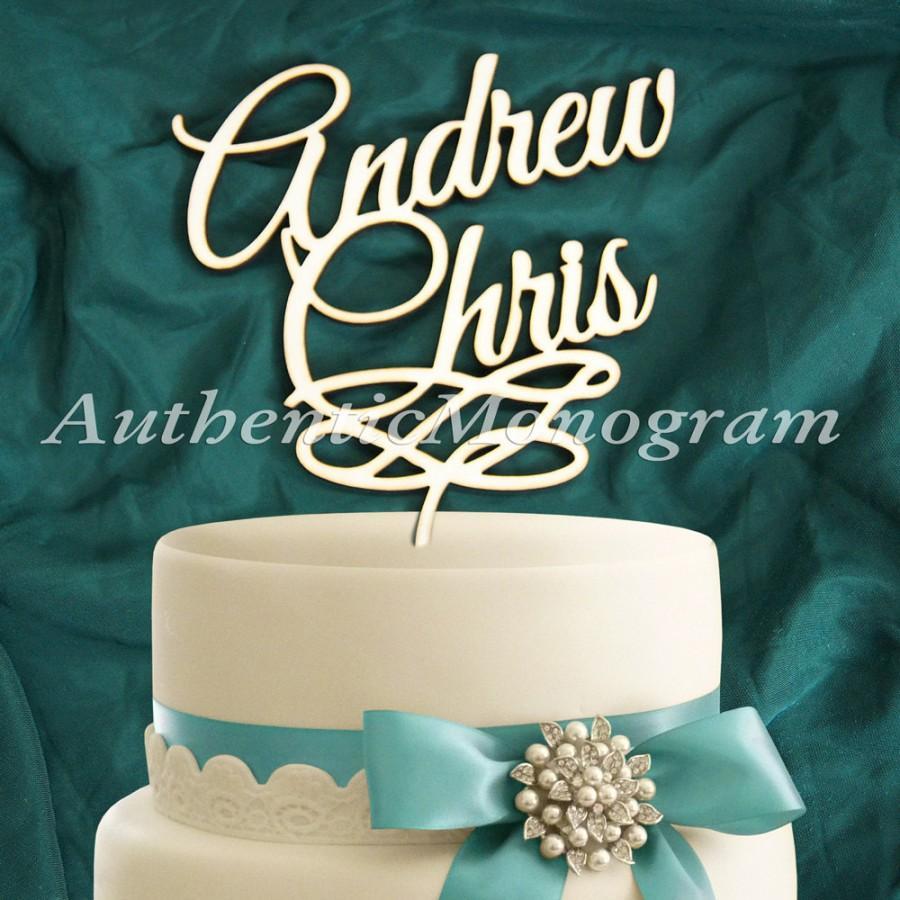 زفاف - Wooden CAKE TOPPER His and Her Names, Wedding decor, Engagement, Anniversary, Celebration, Special Occasion, Love
