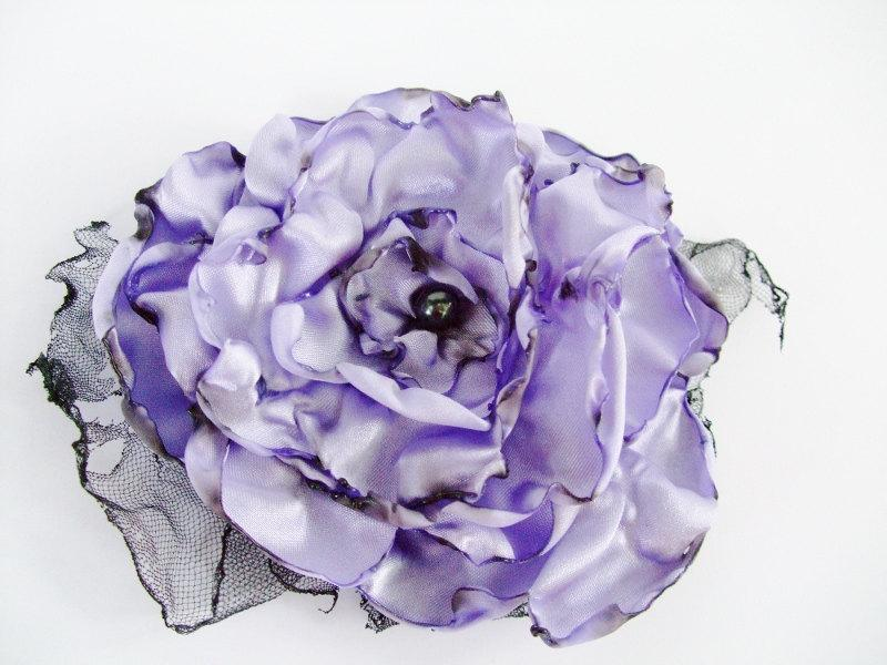 Mariage - Wedding Hair Flower, Lavender Flower Accessory, Made To Order, Bridal Accessory,