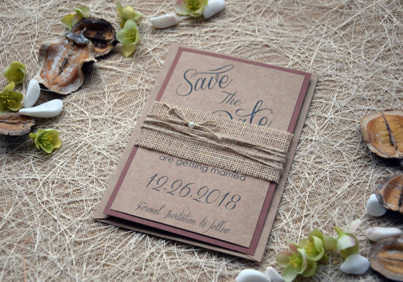 Hochzeit - Wedding Save the Date Cards, Rustic Wedding Save The Dates, Custom Save The Dates, Unique Save The Date Invitations, Kraft Save The Date