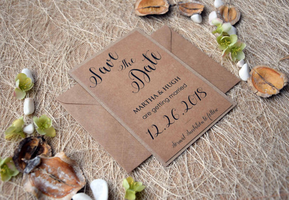 wedding save the date cards rustic wedding save the dates custom