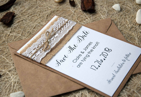 unique wedding save the date cards rustic wedding save the dates