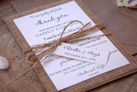 wedding thank you cards rustic wedding thank you card thank you card bridal shower thank you card personalized thank you notes
