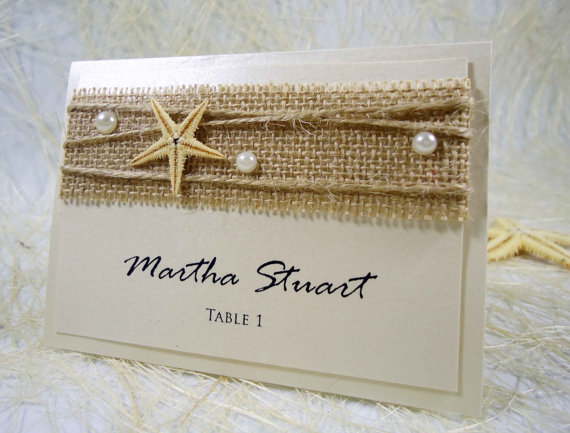 Beach Wedding Place Cards Name Place Cards Holders For Weddings ...