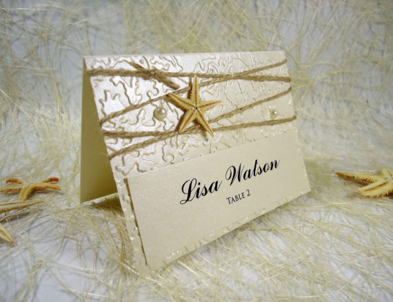 Wedding Place Cards Name Place Cards Holders For Weddings Beach ...