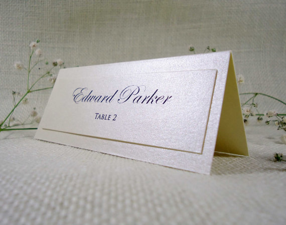 Hochzeit - Simple Wedding Place Cards Name Place Cards for Weddings Cream Place Cards