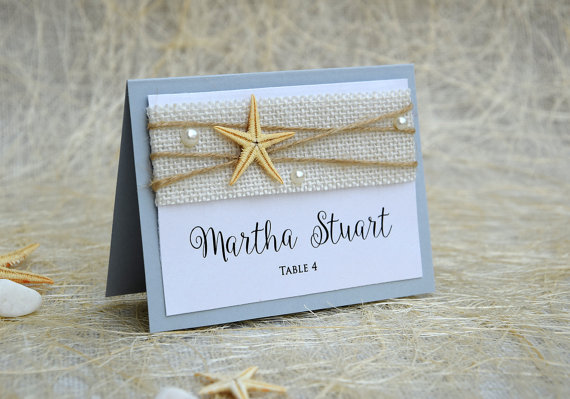 زفاف - Beach Place Cards, Name Place Cards, Place Card Names, Beach Wedding Place Cards, Beach Wedding, Rustic Place Card, Rustic Wedding