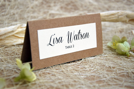 Simple wedding place cards wedding place cards escort for Wedding place name cards