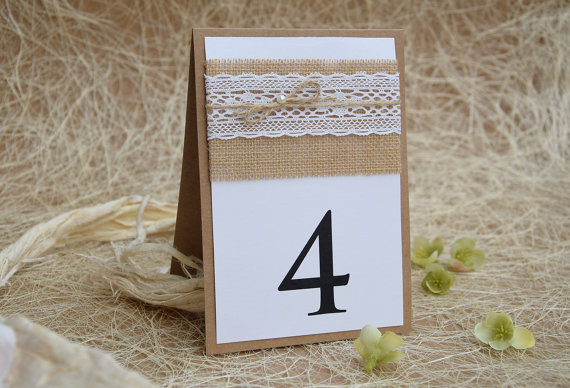 زفاف - Lace Table Number, Rustic Table Number, Escort Cards, Wedding Table Numbers, Burlap Table Numbers, Kraft Table Number, Rustic Chic