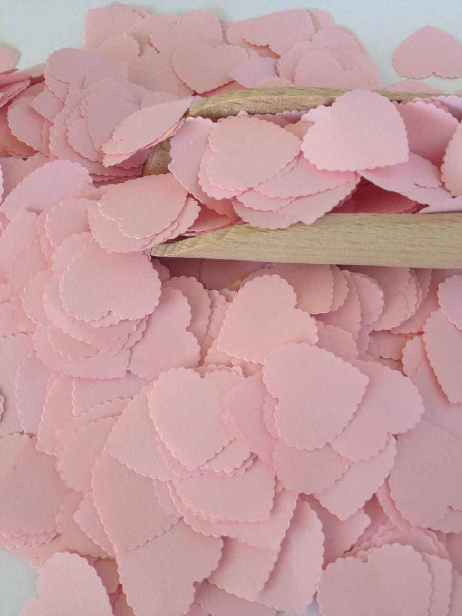 Pink Baby Shower Heart Confetti Vintage Shabby Chic