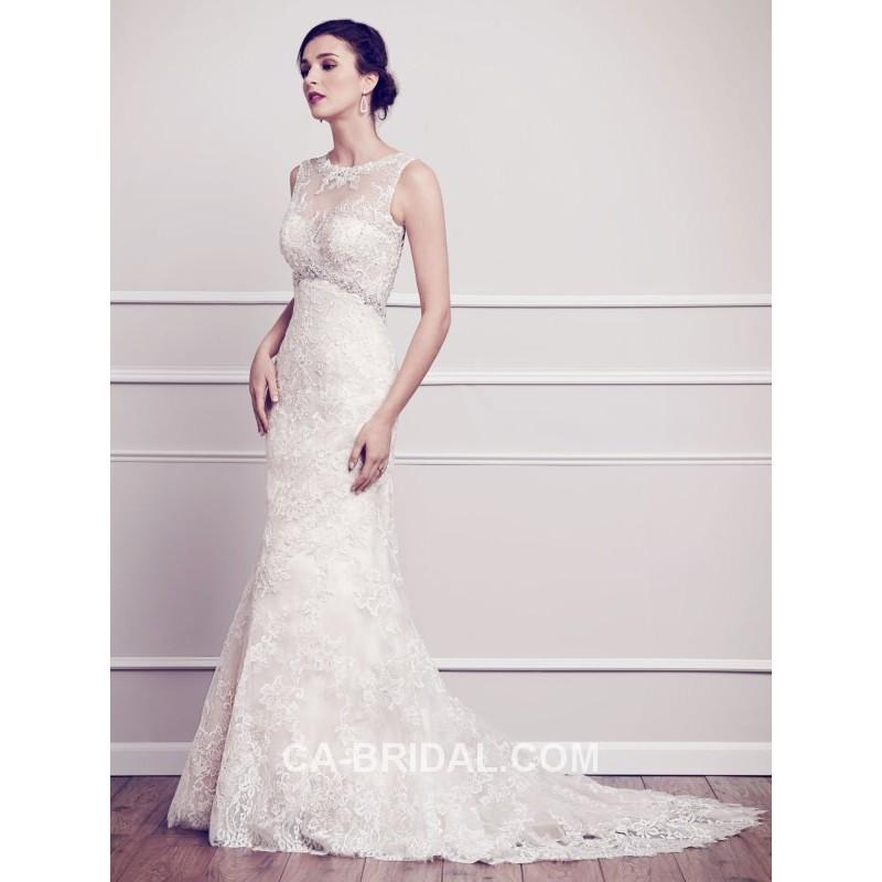زفاف - 2017 Dreamy Scoop Sheath/Column Sleeveless Beading and Applique Lace Court Train Designer Wedding Dress - dressosity.com