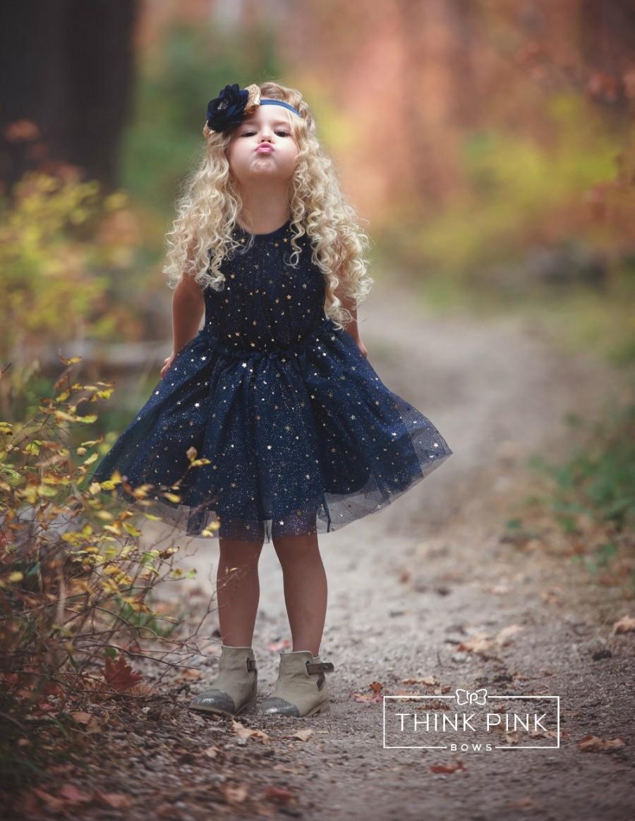Navy Blue Flower Girl Dress Navy Tulle Flower Girl Dress