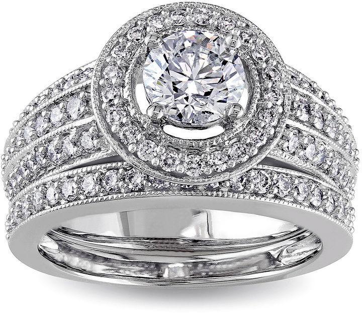 MODERN BRIDE 1 CT. T.W. Diamond 14K White Gold Bridal Ring