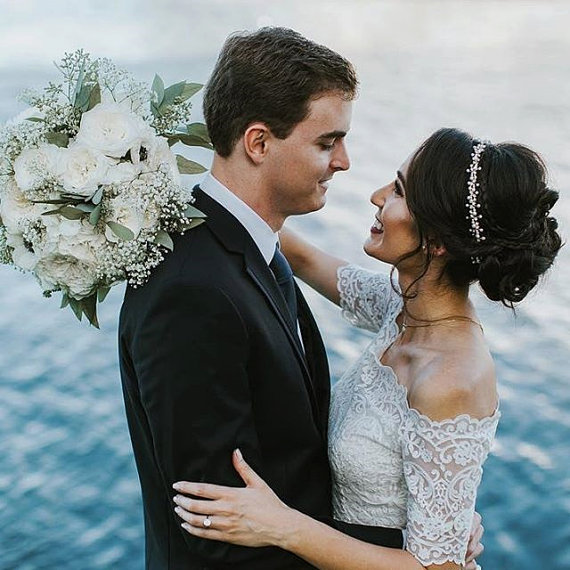Mariage - pearl Wedding headpiece, Pearl bridal headband, Wedding Accessories, Wedding headband, Hair Accessories, Hair Jewelry