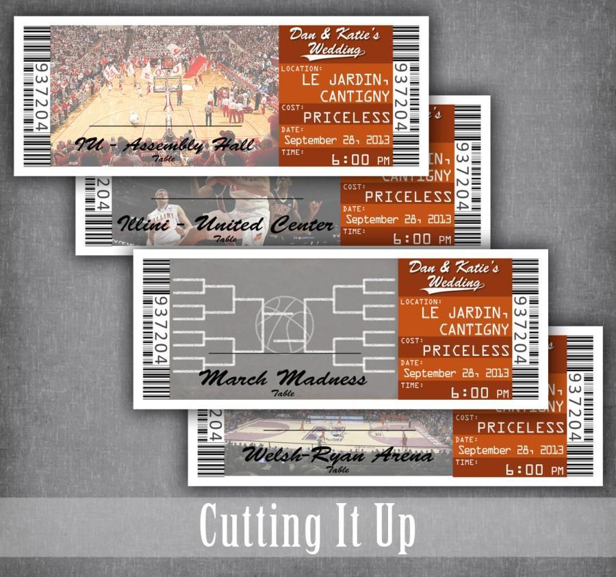 basketball ticket escort cards ticket seating cards basketball wedding escort tickets. Black Bedroom Furniture Sets. Home Design Ideas