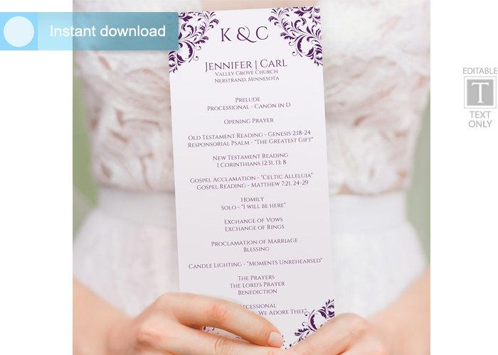 Wedding - Wedding Program Template (Tea-Length)