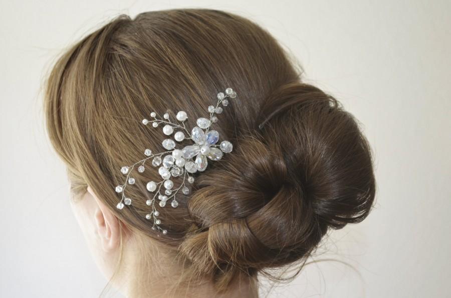 Mariage - Wedding Hair Comb, Bridal Hair Comb, Pearl and Crystal Hair Comb, Wedding Headpiece, Bridal Hair Piece, Bridal Hair Accessory, Flower Comb