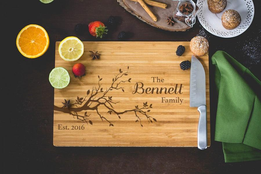 Good Personalized Bamboo Cutting Board Family Tree Custom Cutting, Kitchen Ideas