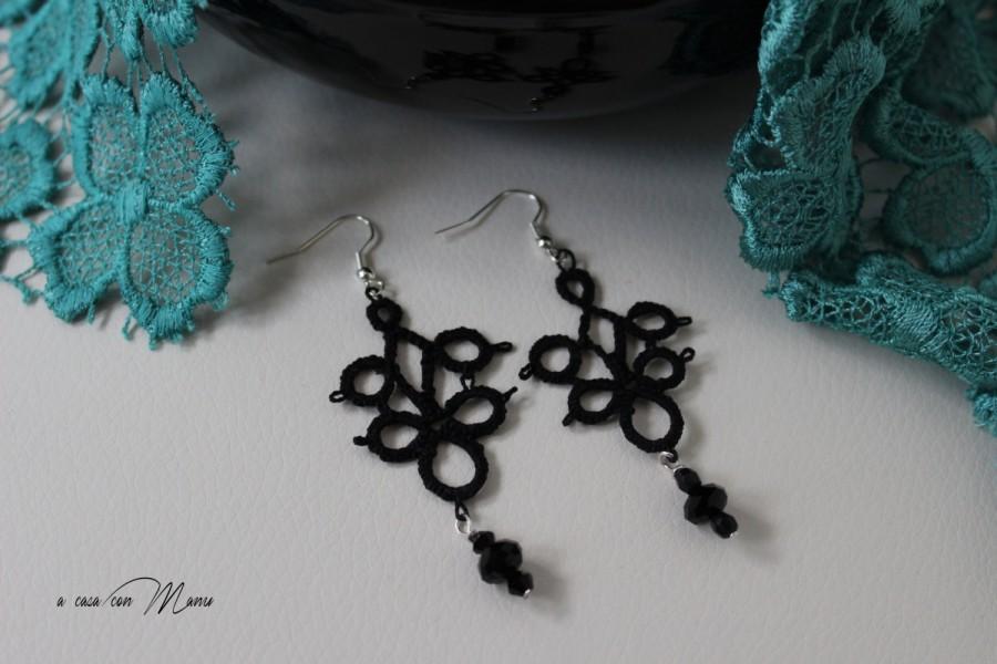 molte scelte di prezzo base design elegante Neri Orecchini Al Pizzo Chiacchierino, Blacks Earrings ...