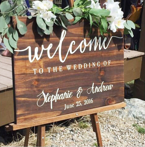 Welcome to our wedding sign wedding decoration wedding sign welcome to our wedding sign wedding decoration wedding sign rustic weddings welcome sign wedding accessories wooden wedding sign junglespirit Images