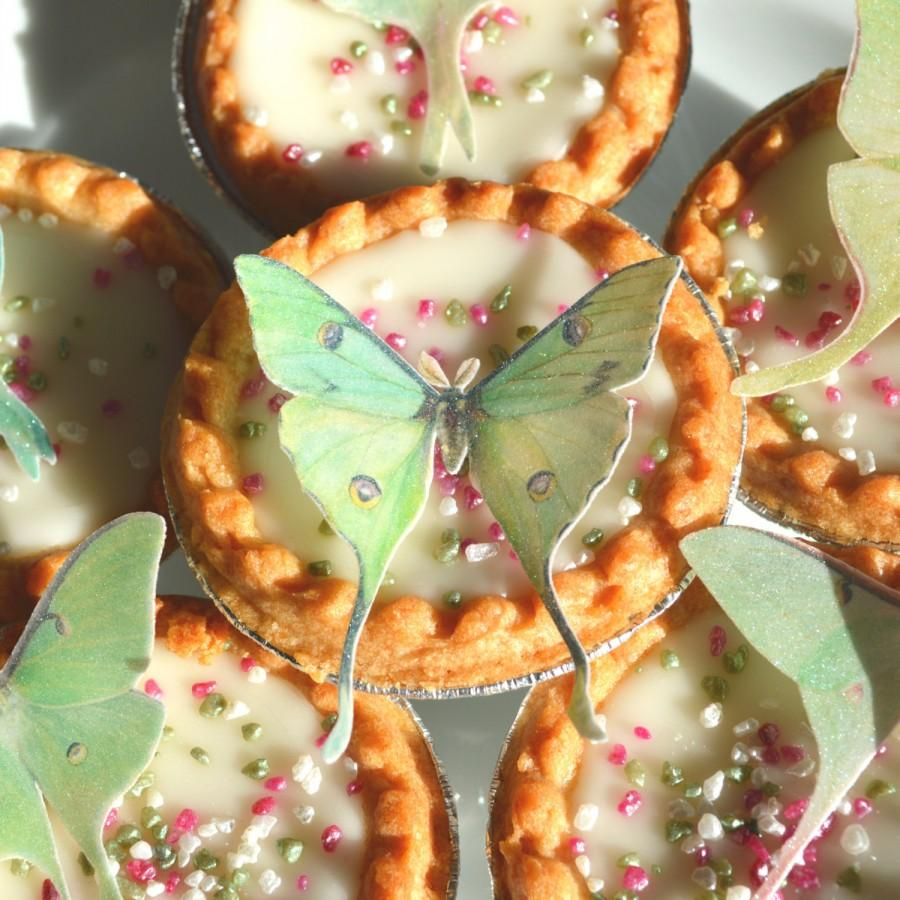 Edible Luna Moths Butterflies 3d Wafer Paper Fantasy Wedding Cake