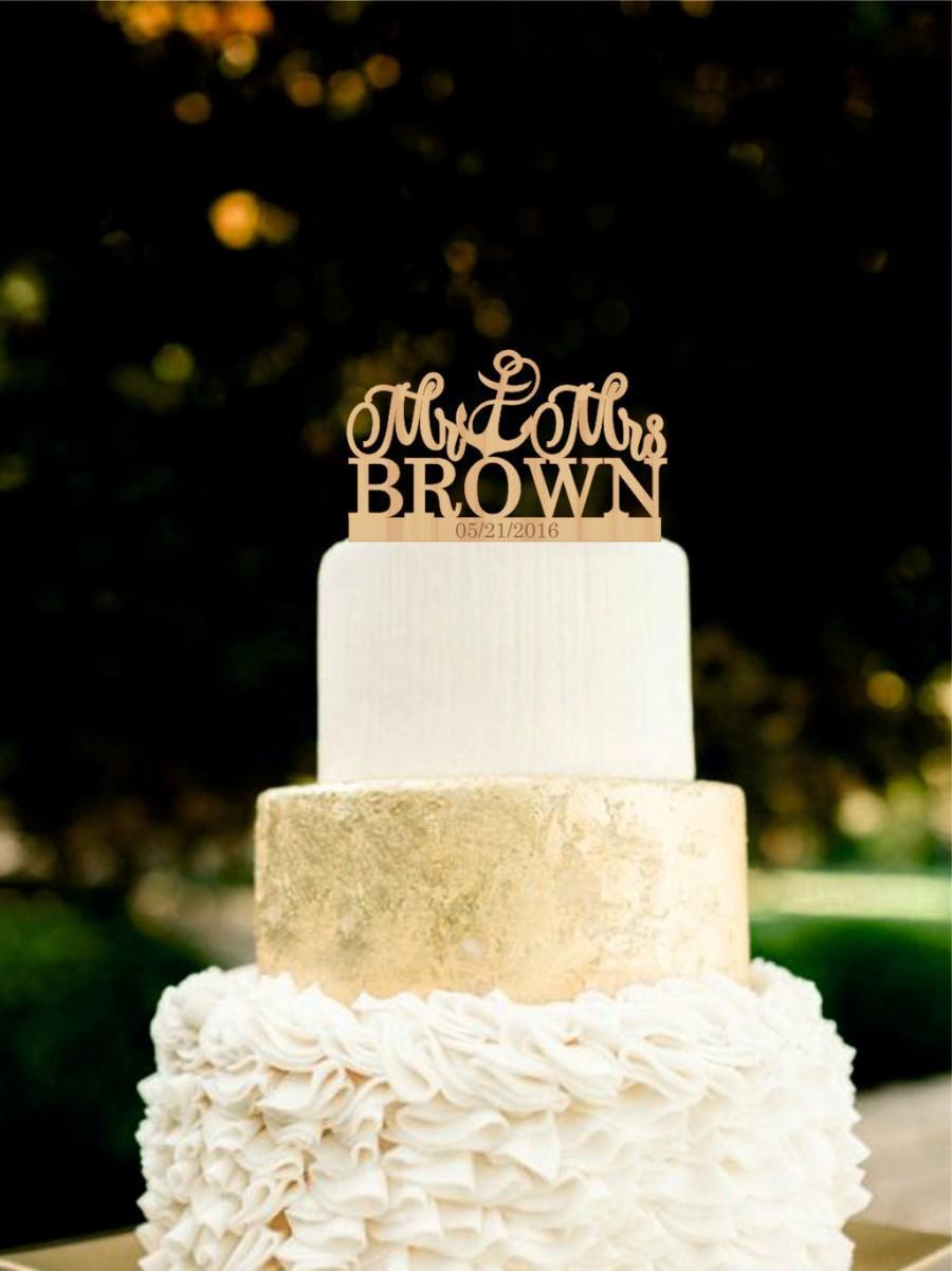 Mariage - Anchor Wedding Cake Topper Nautical Mr and Mrs  Cake Topper Rustic  Cake Topper Beach Wedding Cake Topper
