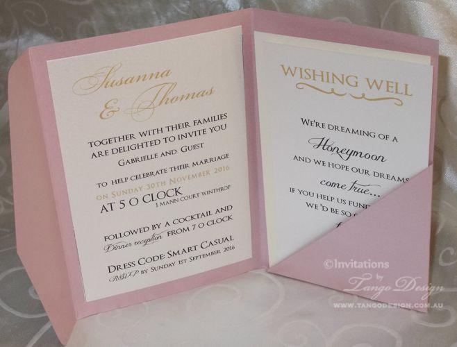 Gold And Pink Wedding Pocketfold INVITATIONS 24 Invites Rsvp Cards Envelopes Set Party Birthday Invitation Foil Or Glitter Papers