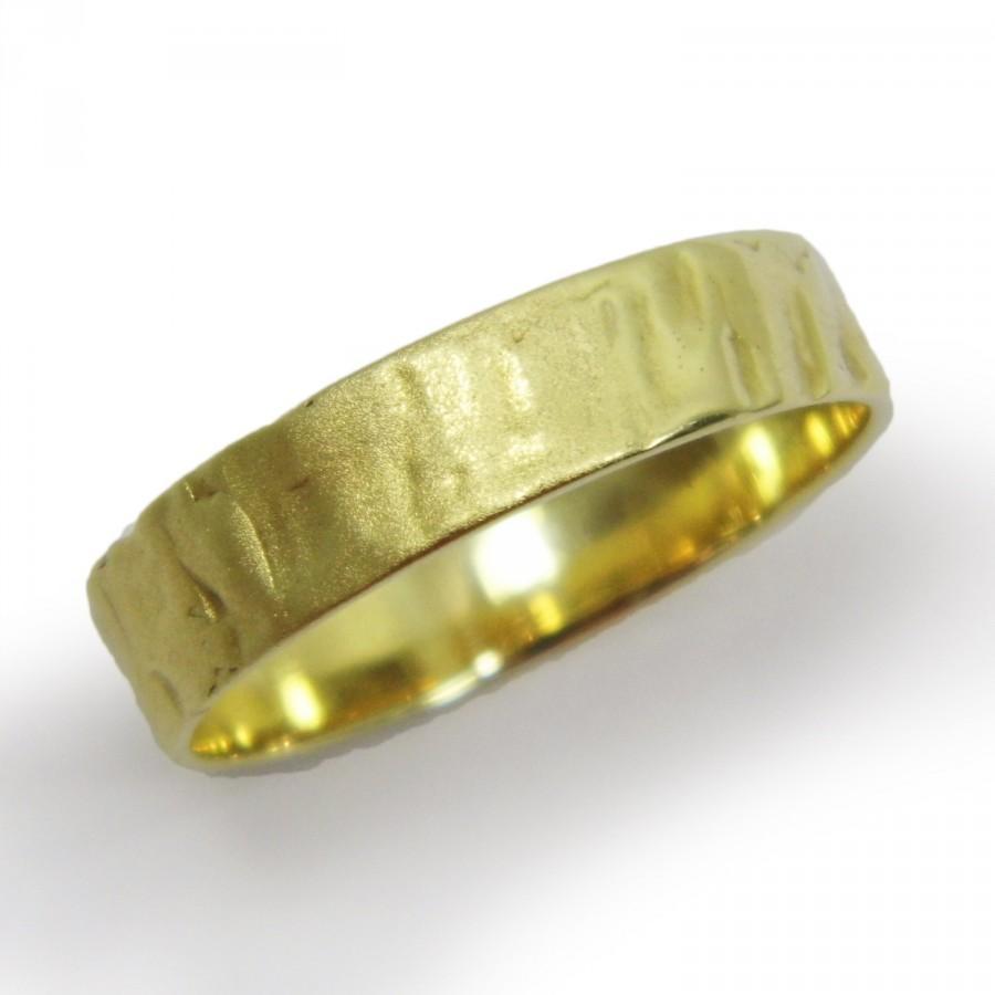 زفاف - Matte textured wedding band. 14k yellow gold wedding band. Unisex wedding band. Men wedding band (gr-9404-1509)