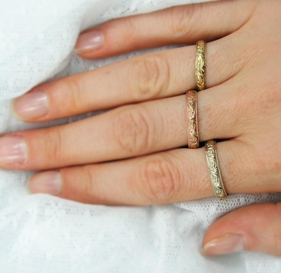 Moroccan Gold Wedding Ring Fl Design Or Band Gift Anniversary Gr 9154 890