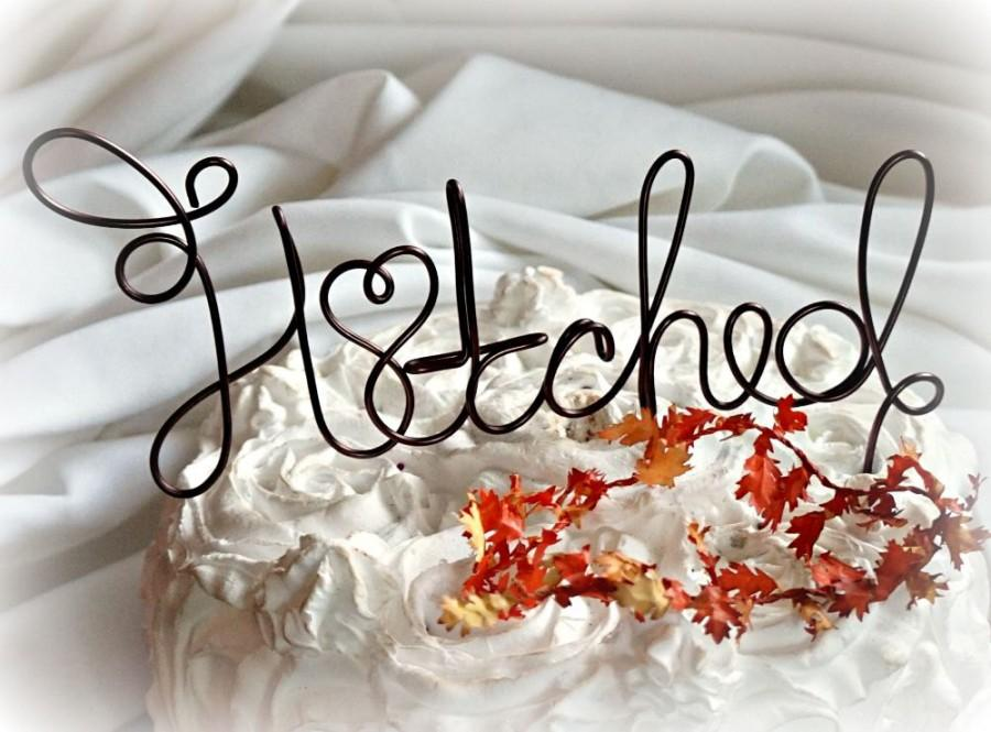 Wedding - Rustic Wedding Cake Topper, Hitched