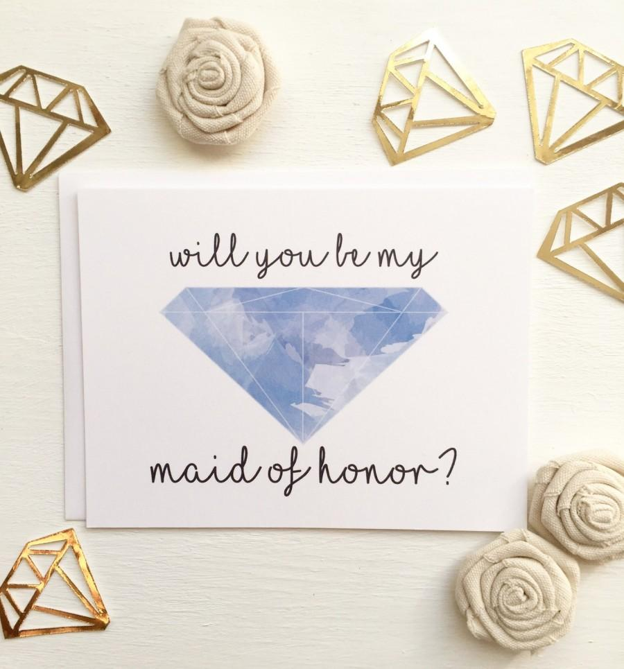 Mariage - SALE! Will You Be My Maid of Honor? Ask Maid of Honor Proposal Card