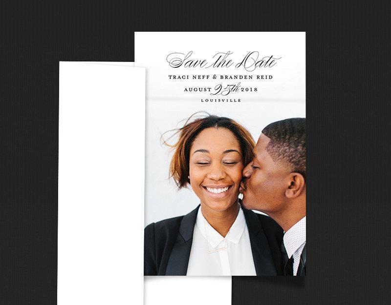 زفاف - Elegant Save the Date Magnets, Wedding Magnets with full magnetic backer