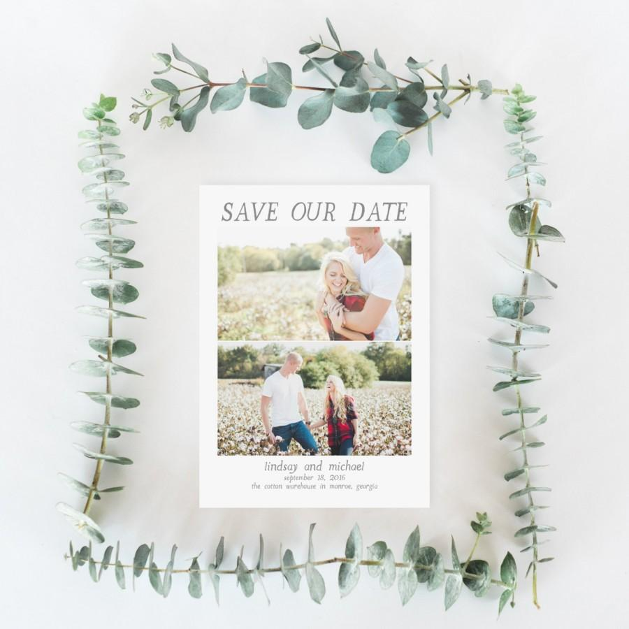 Mariage - Printable Save the Date Card - Photo Save the Date - Engagement Photo Save the Date - Wedding Announcement Card - Modern Save the Date (009)