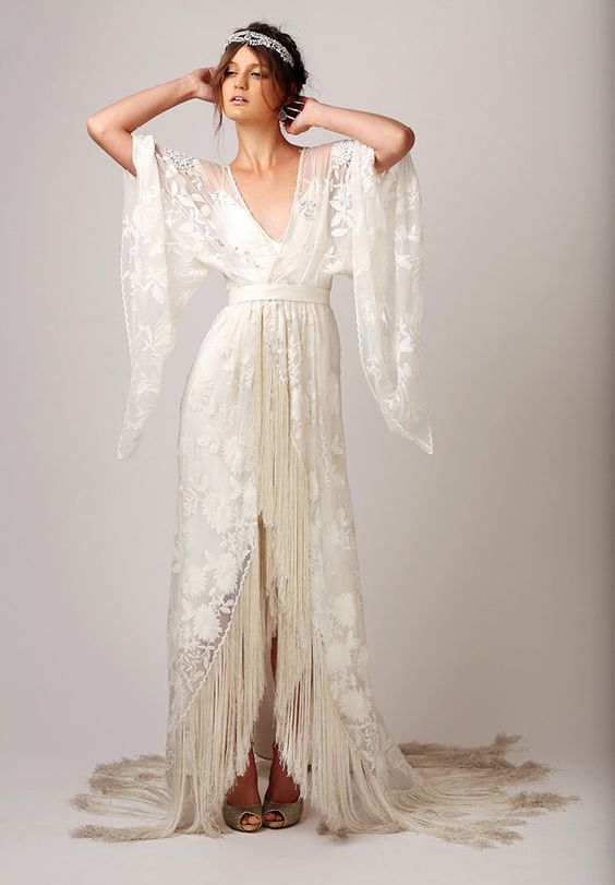 20 Fringe Wedding Dresses That Catch An Eye Crazyforus