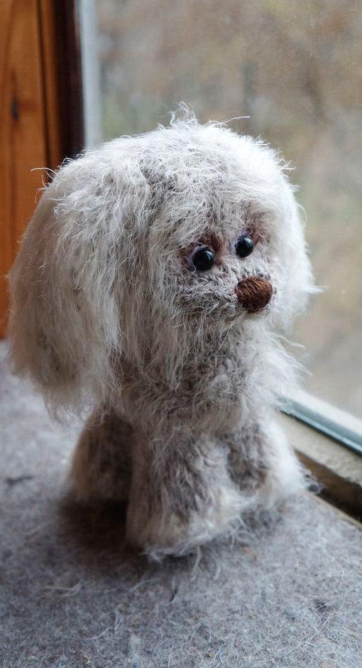 Crochet Grey Dog Crochet Puppy Stuffed Puppy Stuffed Dog Amigurumi