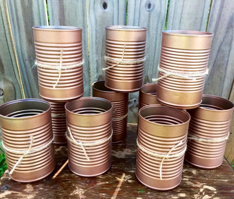 Wedding - Copper Wedding Centerpieces, Painted Cans, Copper, Vintage Flower Vase, Rustic Weddings, Shower Centerpieces, Tin Cans, Country Wedding