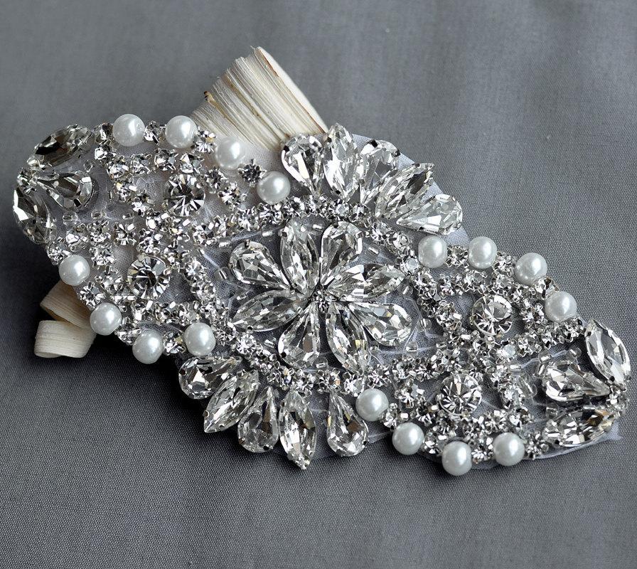 Rhinestone Applique Bridal Accessories Crystal Trim Rhinestone Beaded  Applique Wedding Dress Sash Belt Headband Jewelry RA029 cfef7e3abf7e