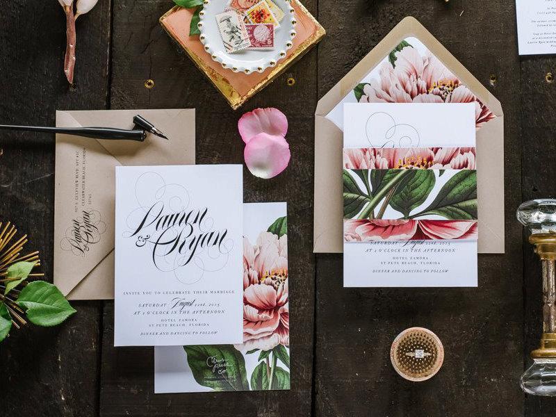 Hochzeit - LAUREN SUITE II // Blush Peony Wedding Invitation,Botanical, Classic Wedding, Garden Wedding, Pink, Spring Wedding, Summer Wedding