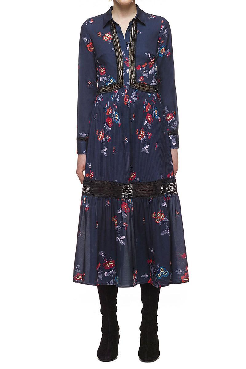 Mariage - Self Portrait Plum Blossom Shirt Dress