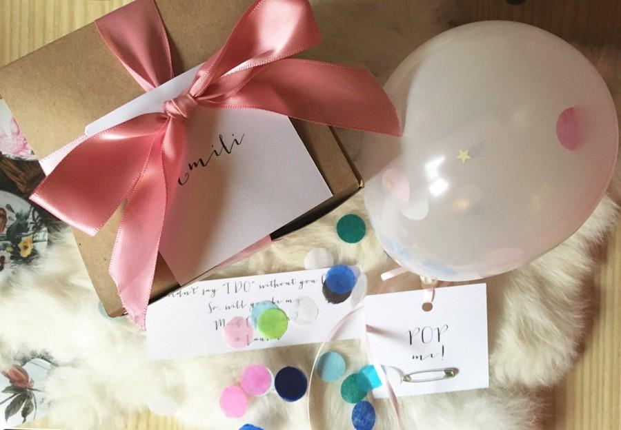 Mariage - Will be my Flower Girl?  Custom Gift Box
