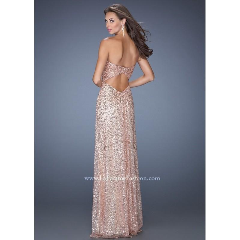 Boda - La Femme 19298 Sparkly Sequin Dress Website Special - 2016 Spring Trends Dresses