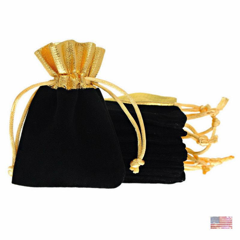 Mariage - 25pcs Wholesale Velvet Drawstring Pouches Jewelry Pouches Wedding Party Gift Bags 7x9cm Supplies Multi Color Available USA 81260-62
