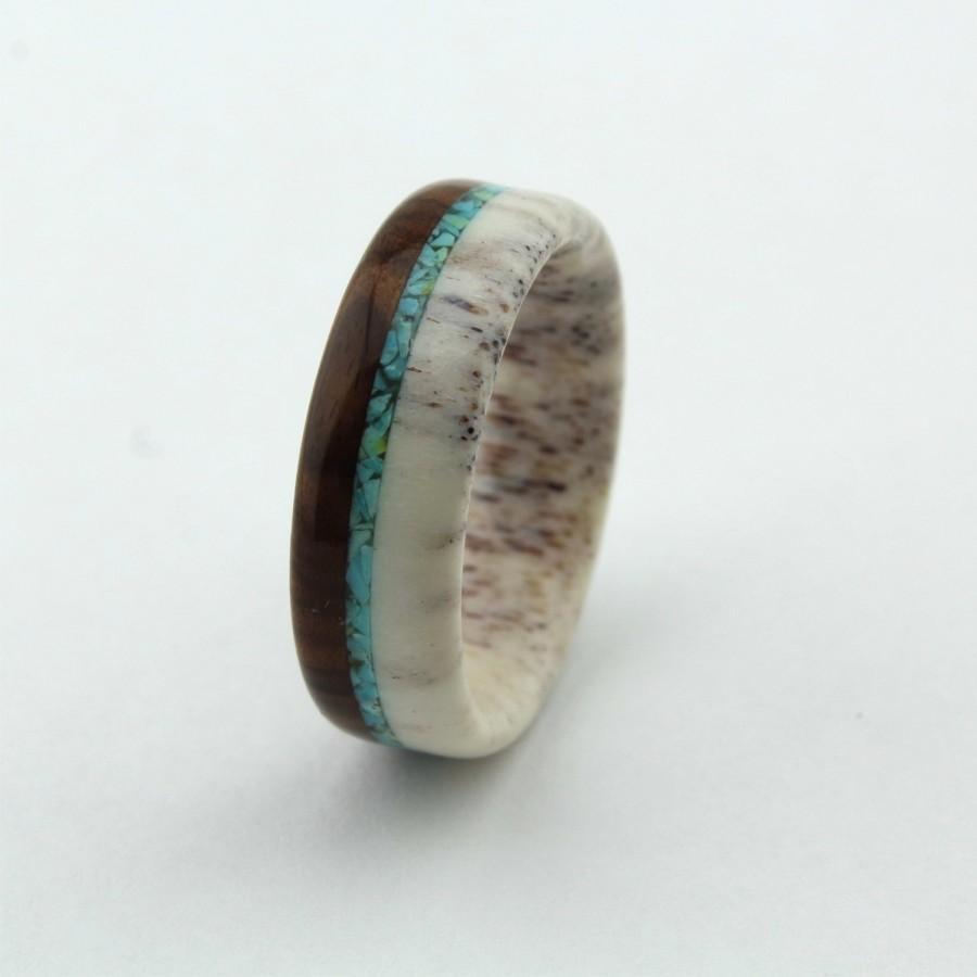 زفاف - Deer Antler Ring/Antler Ring