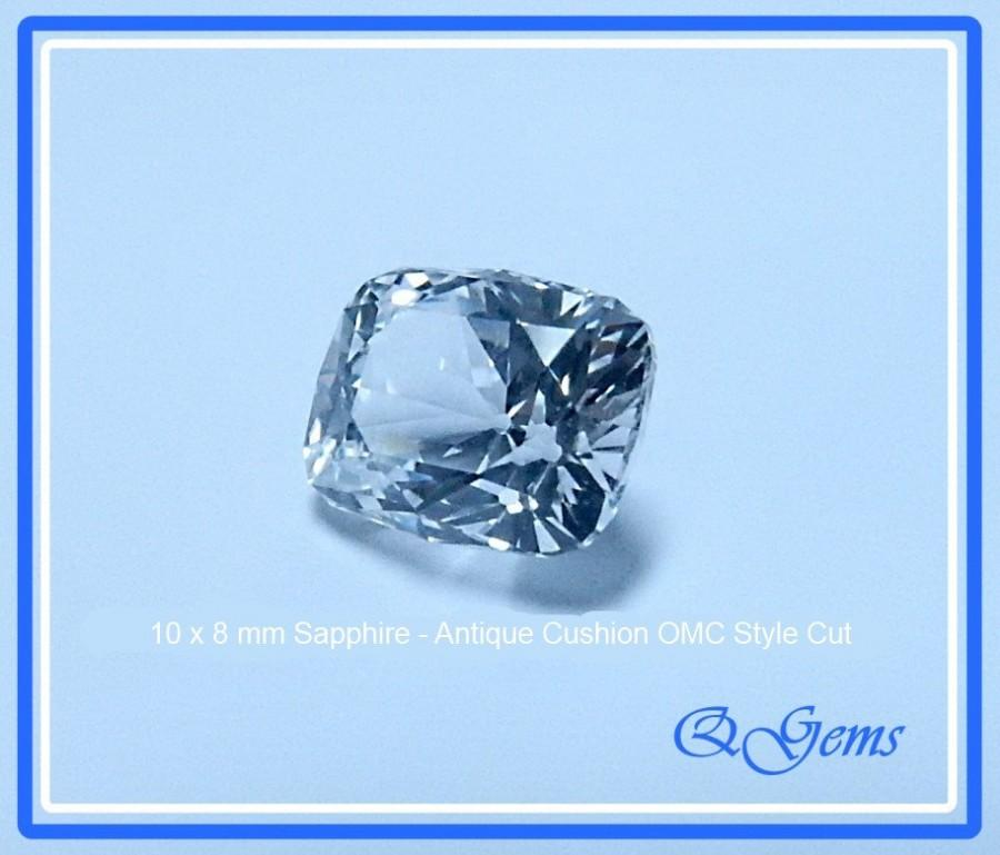 زفاف - SOLD to Cairy - SAPPHIRE - Old Mine Cut Style - 10 x 8 mm Antique Cushion Rectangle with Facted Culet - Very Brilliant! - -ref0423