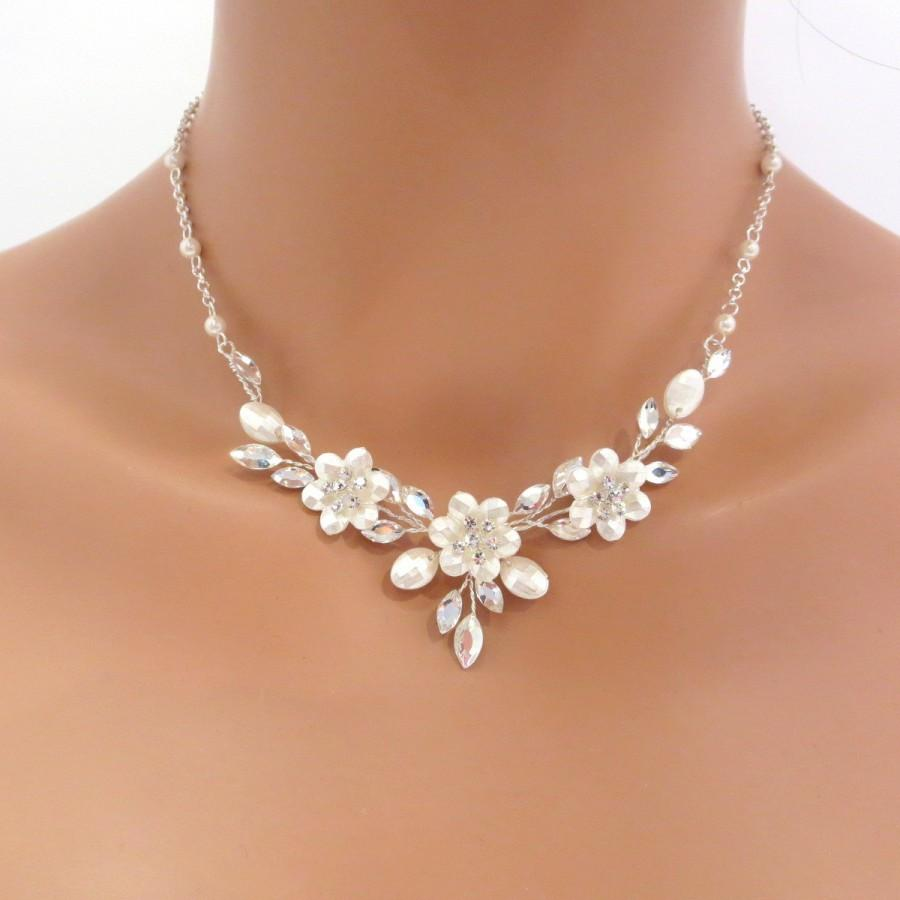 Swarovski Crystal Bridal Necklace And Earrings Set Wedding