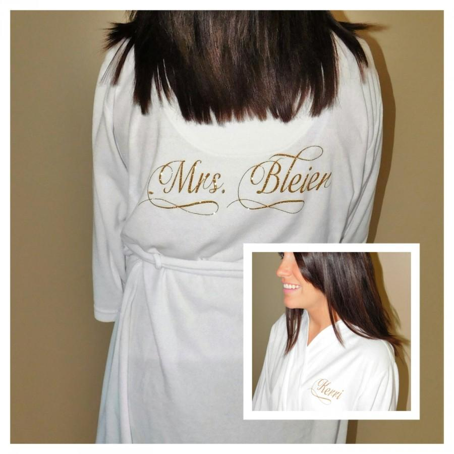 b44739dfac Bride Robe - Mrs Robe - Personalized Wedding Robe Soft and Light Weight  Bridal Robe - Future Mrs Robe - Bachelorette Robe - Bridal Shower