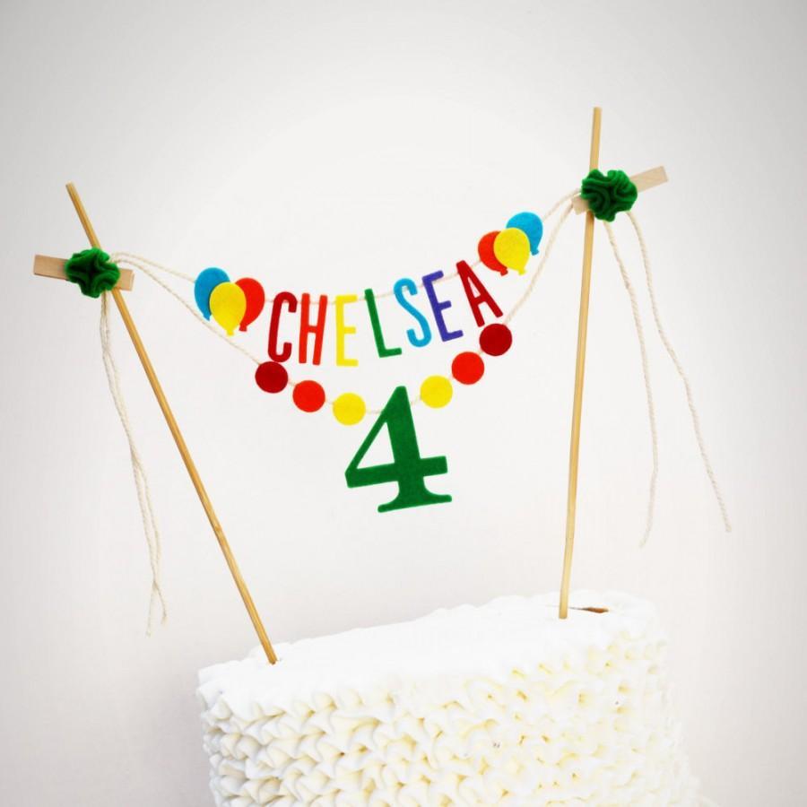 Birthday Cake Banner Personalized Custom One Smash Rainbow