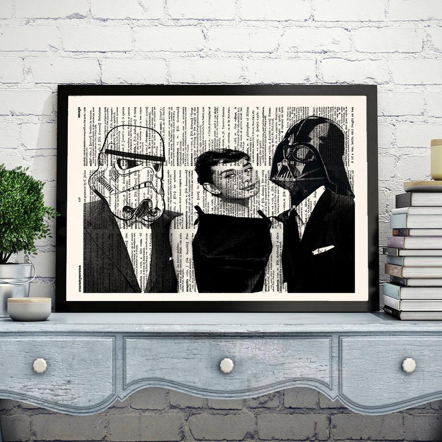 Exceptionnel STAR WARS Audrey Hepburn, Darth Vader, Stormtrooper, Wall Art Print, Star  Wars Poster, Darth Vader Poster, Dictionary Print,Office Decor,321